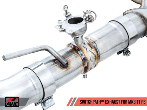 AWE SwitchPath Exhaust for Audi MK3 TT RS - Diamond Black RS-style Tips