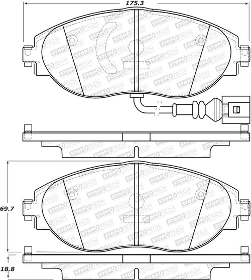StopTech Sport Brake Pads (Front) 309.16330