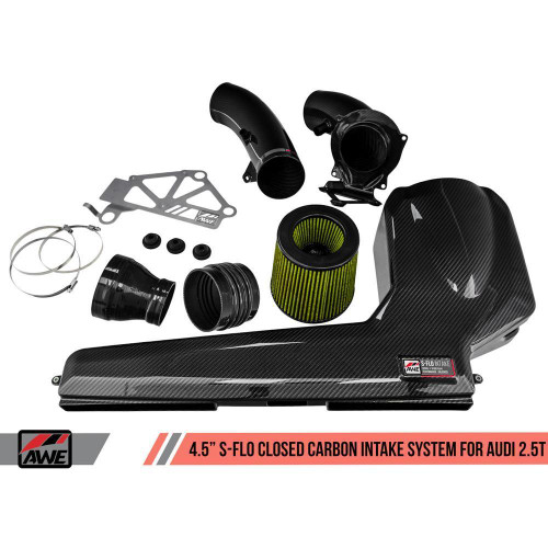 """AWE 4.5"""" S-FLO Closed Carbon Intake System for Audi RS 3 / TT RS"""