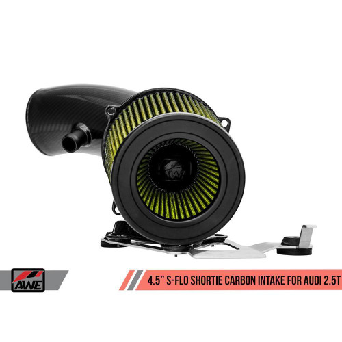 """AWE 4.5"""" S-FLO Shortie Carbon Intake for Audi RS 3 / TT RS"""
