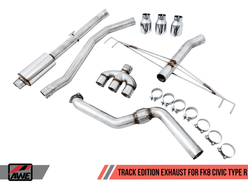 AWE Track Edition Exhaust for FK8 Civic Type R (includes Front Pipe)