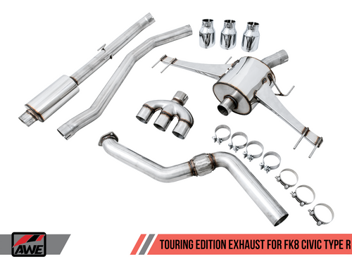 AWE Touring Edition Exhaust for FK8 Civic Type R (includes Front Pipe)