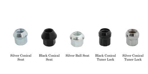 Motorsport Hardware 75mm Black Bullet Nose Race Stud Kit 14×1.5
