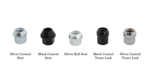 Motorsport Hardware 75mm Black Bullet Nose Race Stud Kit 14×1.5