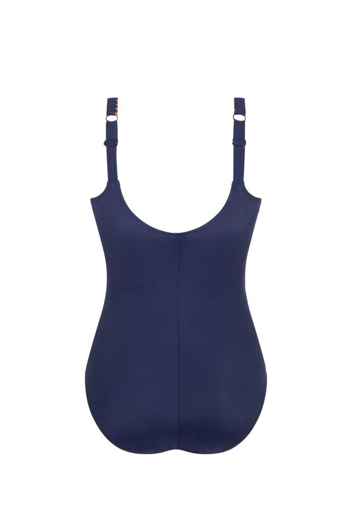 Alabama Half-Bodice Navy/Rust Swimsuit