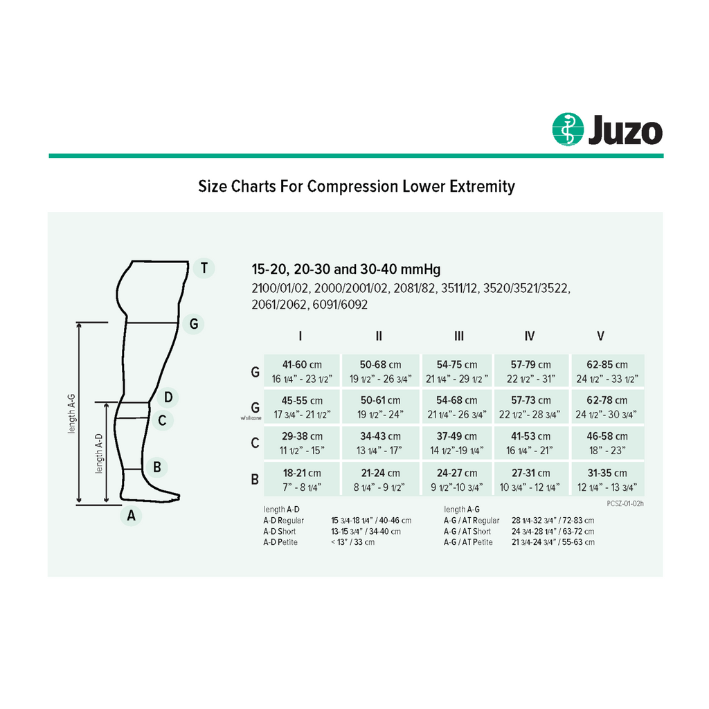 Juzo Soft Knee (2000 series) Closed Toe