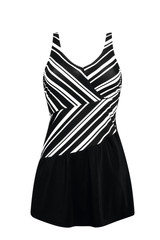 Andalusia Swim Dress - Black/White