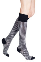 Rejuva Houndstooth Compression Socks
