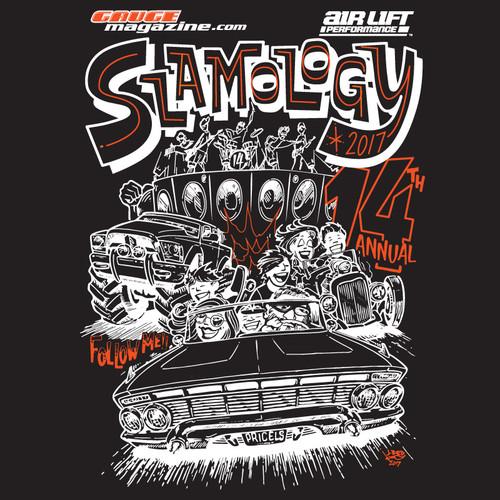 Slamology 2017 T-Shirt Rear Design