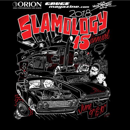 2018 Slamology Show Shirt Rear