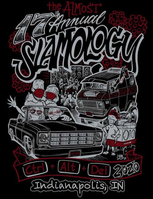 Slamology 2020 CTRL-ALT-DEL Covid Postpone T Shirt design back