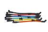 PowerSource Chevy Small Block Spark Plug Wire Set Around Front - HEI PS435 Colors Image