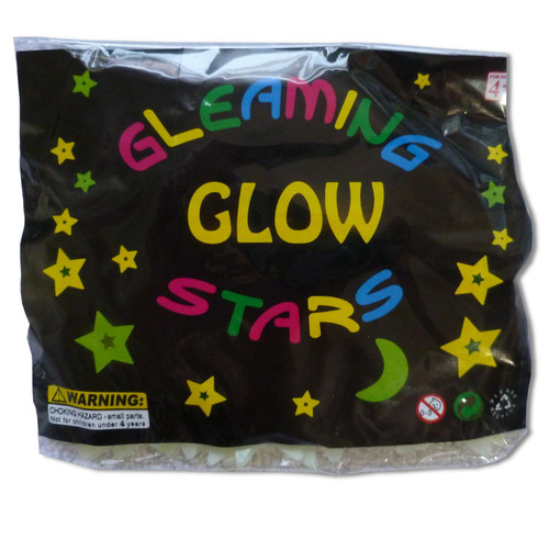 50 Glow In The Dark Plastic Stars and Moon