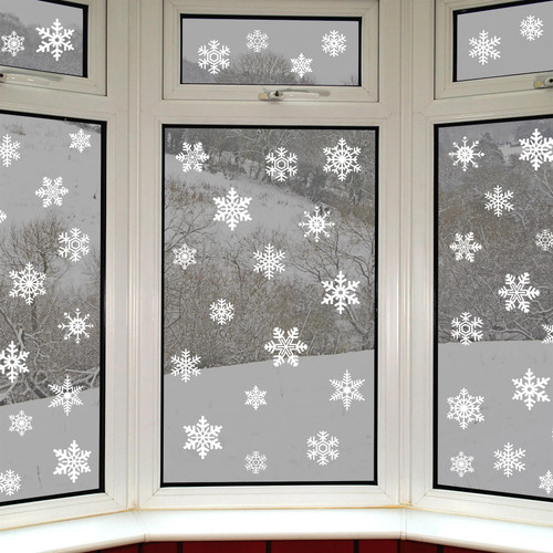 56 Original Snowflake Window Clings by Articlings - Fabulous Static PVC Stickers