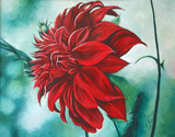 """Featured """"Red in Fury"""" in Women Painters Group"""