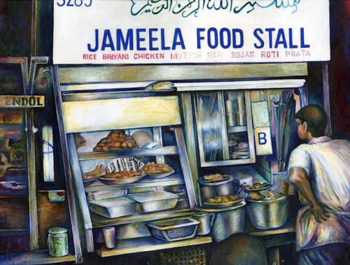 Jameela's Singapore Canvas Print