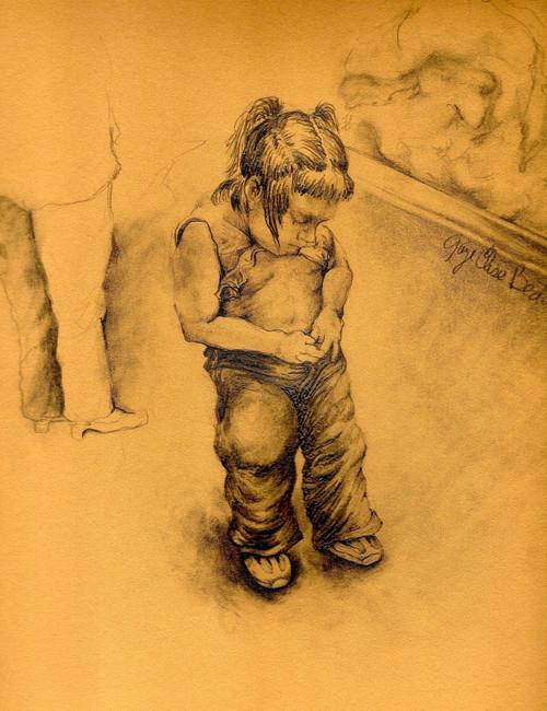 Drawing by New York City Fine Art Artist, Gaye Elise Beda