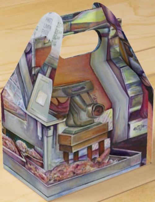 Original Painting by New York City Artist, Gaye Elise Beda.  www.gayeelisebeda.store     gable favor box