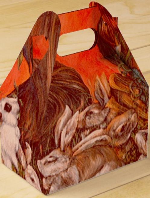 Orginal Painting by Well Seasoned New York City Artist, Gaye Elise Beda, Gable Favor Boxes