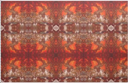 Orginal Painting by Well Seasoned New York City Artist, Gaye Elise Beda, Cotton Fabric