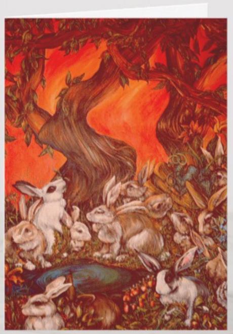Orginal Painting by Well Seasoned New York City Artist, Gaye Elise Beda, Greeting Card