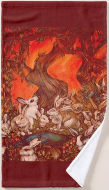 Orginal Painting by Well Seasoned New York City Artist, Gaye Elise Beda, Kitchen Hand Towel