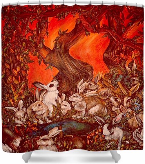 Original Painting by New York City Artist, Gaye Elise Beda. Check it out.  www.gayeelisebeda.store   Shower Curtain