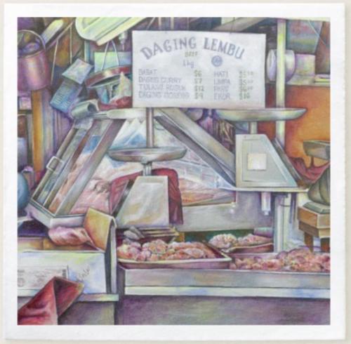 Original Painting by New York City Artist, Gaye Elise Beda.  www.gayeelisebeda.store     Paper Napkins