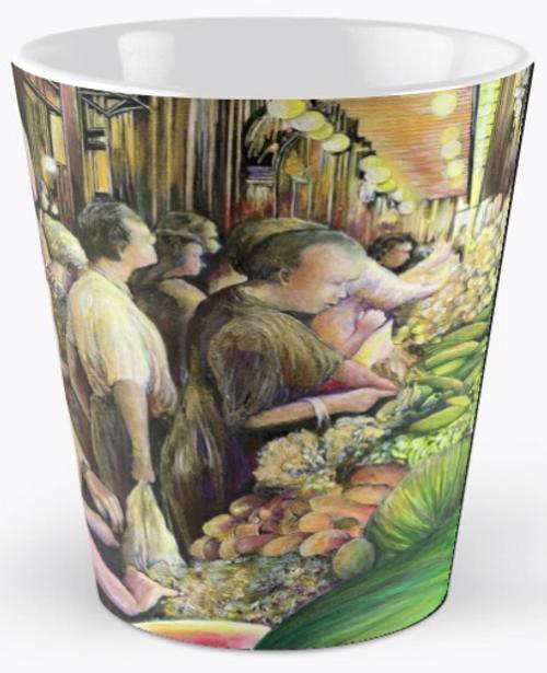 Original Painting by New York City Artist, Gaye Elise Beda. Check it out. www.gayeelisebeda.store   Mugs