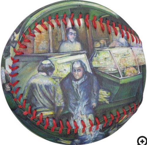 Original Painting by New York City Artist, Gaye Elise Beda.  Softballs    www.gayeelisebeda.store Check it out.