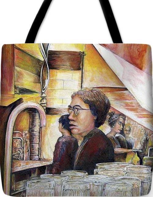 Painting by New York City Artist, Gaye Elise Beda. Tote Bags   Check it out. www.gayeelisebeda.store