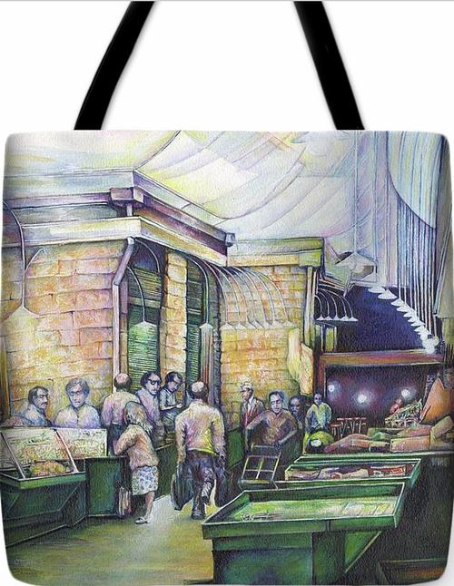 Original Painting by New York City Artist, Gaye Elise Beda. Tote Bags   Check it out. www.gayeelisebeda.store