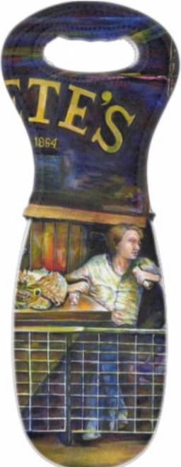 Original Painting by New York City Artist, Gaye Elise Beda. Wine Bags   www.gayeelisebeda.store     Check it out.
