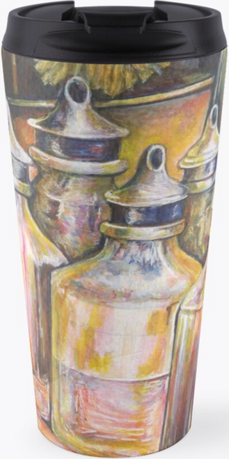 Original Painting by New York City Artist, Gaye Elise Beda. Travel Mugs www.gayeelisebeda.store     Check it out.