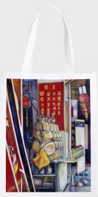 Original Painting by New York City Fine Art Artist, Gaye Elise Beda.  www.gayeelisebeda.store     Re-useable Grocery Bags