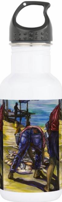 Original Painting by New York City Artist, Gaye Elise Beda.  water bottles www.gayeelisebeda.store Check it out.