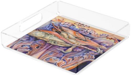 Original Painting by New York City Artist, Gaye Elise Beda.  acrylic trays www.gayeelisebeda.store Check it out.