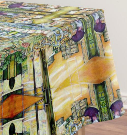 Original Painting by New York City Artist, Gaye Elise Beda.  www.gayeelisebeda.store     Tablecloths