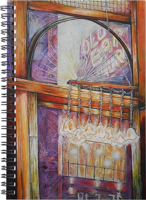 Original Painting by New York City Artist, Gaye Elise Beda. Spiral Notebook     www.gayeelisebeda.store Check it out.