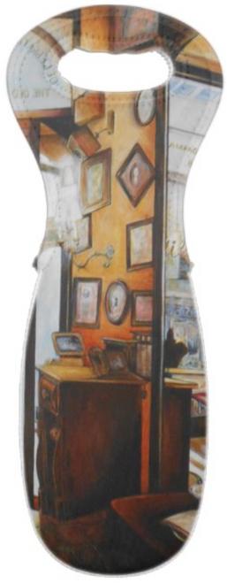 Original Painting by New York City Artist, Gaye Elise Beda. Wine Bags Check it out. www.gayeelisebeda.store
