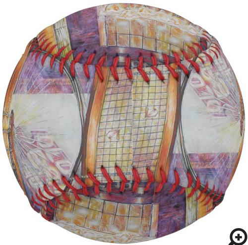 Original Painting by New York City, Fine Art Artist, Gaye Elise Beda. Softballs     Check it out. www.gayeelisebeda.store