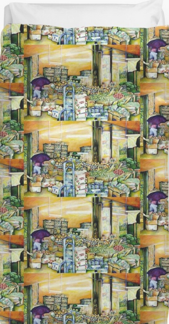 Original Painting by New York City Artist, Gaye Elise Beda. Duvet Cover Check it out.  www.gayeelisebeda.store
