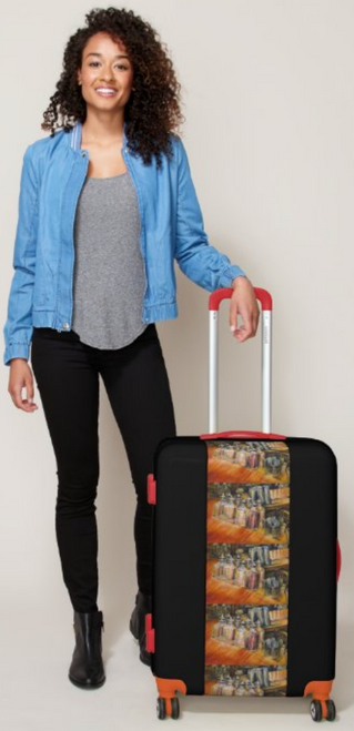 Original Painting by New York City Artist, Gaye Elise Beda.  Luggage  www.gayeelisebeda.store Check it out.