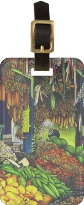 Original Painting by New York City Artist, Gaye Elise Beda. Luggage tags www.gayeelisebeda.store Check it out.