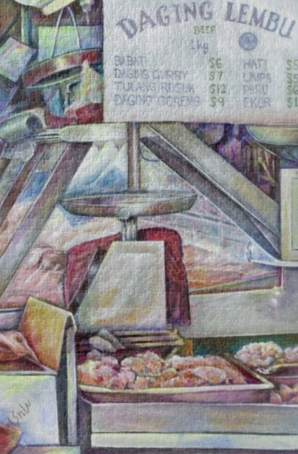 Original Painting by New York City Artist, Gaye Elise Beda. Jigsaw Puzzles www.gayeelisebeda.store Check it out.
