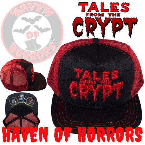 Tales From The Crypt Red Trucker Baseball Hat