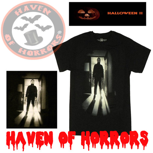02c11f2b Halloween Mike Myers Flames T-shirt - havenofhorrors
