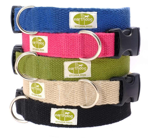 Earthdog Solid Hemp Adjustable Collars
