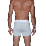 Boxer Brief w/Fly - Heather Grey