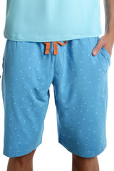 Lounge Short with Draw String - B-Squared Blue